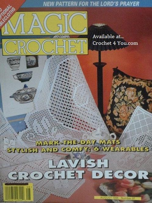 Magic Crochet 97. Crocheted Tablecloths Doily Mat Patterns