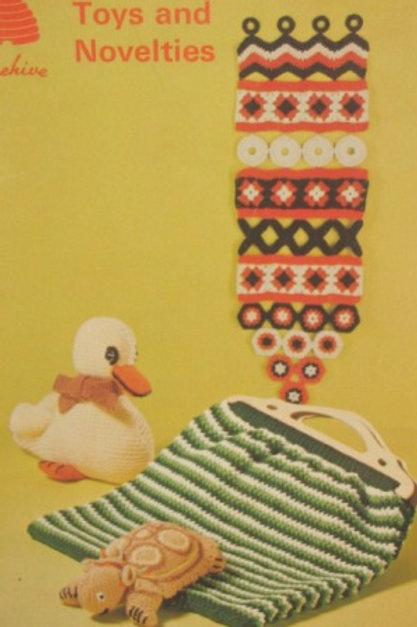 Patons 141 Toys and Novelties - Home Decor - Crochet Knitting Patterns