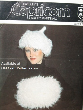 Twilleys 6333 Knitted Loopy Stitch Hat And Muff Set Knitting