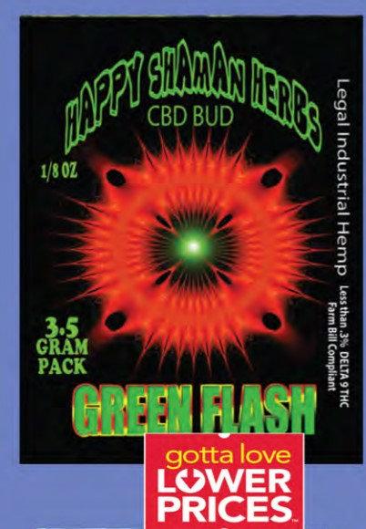 GREEN FLASH bud 7 gram jar