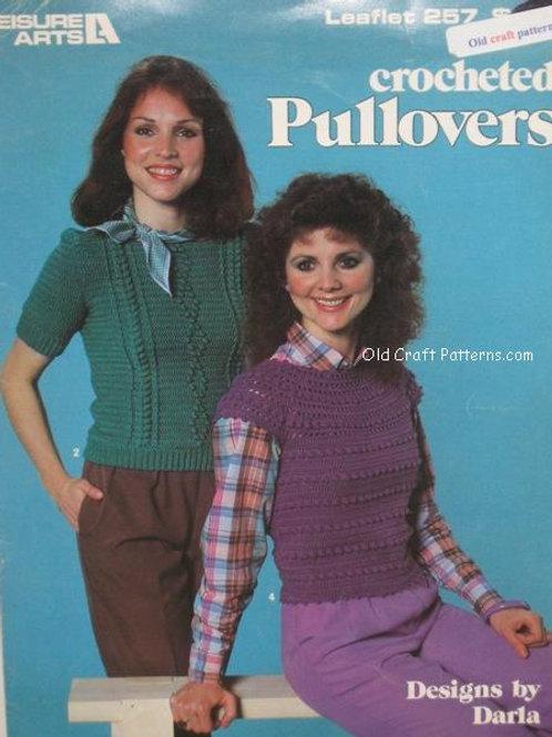 Leisure Arts 257. Crocheted Pullovers - Crochet Patterns