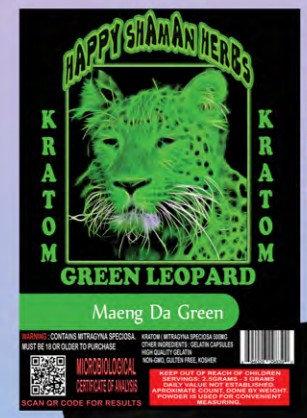 KRATOM Maeng Da Green 100 capsules