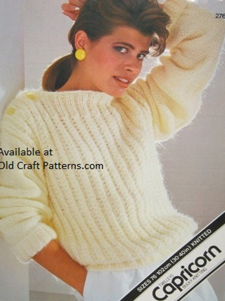 Twilleys 276. Ladies Pullover Knitted Sweater Capricorn Knitting Pattern