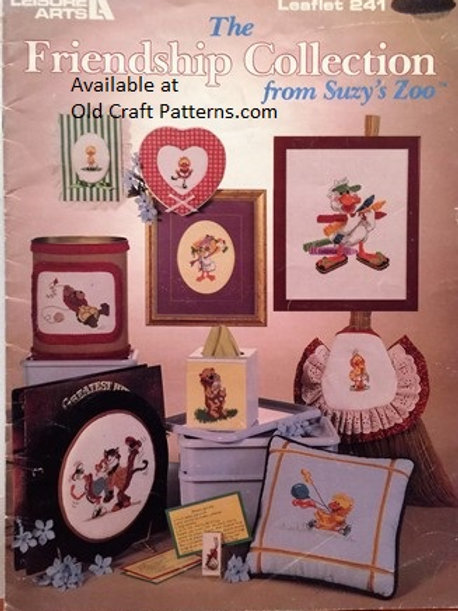 Leisure Arts 241. Friendship Collection from Suzy's Zoo - Cross Stitch Charts