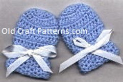 Free Crochet Pattern for Baby Mittens