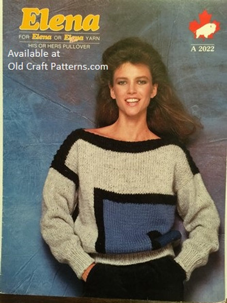 Elena 2022. Ladies Pullover Sweater Knitting Pattern