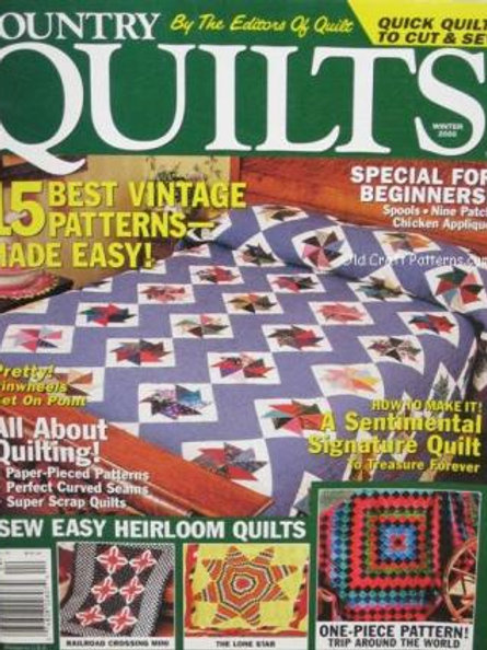 617. Country Quilts - Sew an Easy Heirloom Quilt - Quilting Patterns