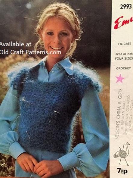 Emu 2993. Crocheted Ladies Top - Crochet Pattern