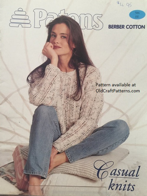 Patons 586. Casual Knits - Ladies Cotton Tops Knitting Patterns