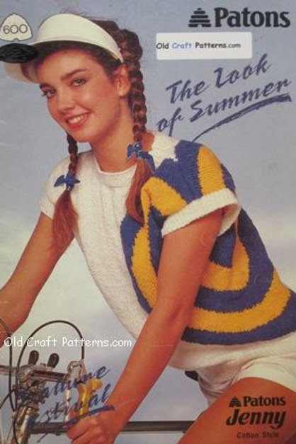 Patons 600. Look of Summer Knit Tops - Knitting Patterns