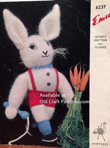 Emu 6237. Rabbit Toy Knitting Pattern