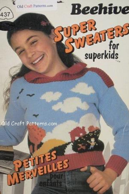 Patons 437. Super Sweaters for Super Kids - Knitting Patterns