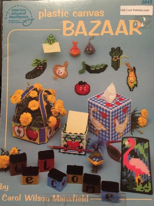 American School 3015. Plastic Canvas Bazaar Patterns