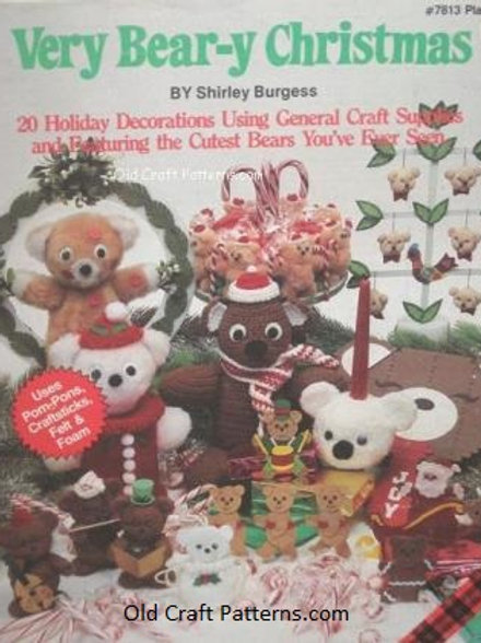 Plaid 7813. Very Berry Christmas Holiday Bears - Craft Patterns