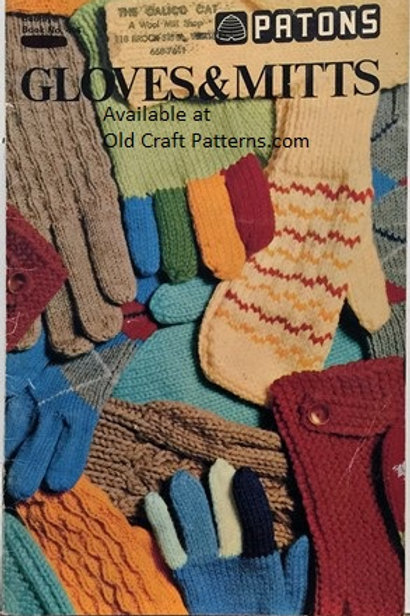 Patons 406. Gloves and Mitts - Family Knitting & Crochet Patterns