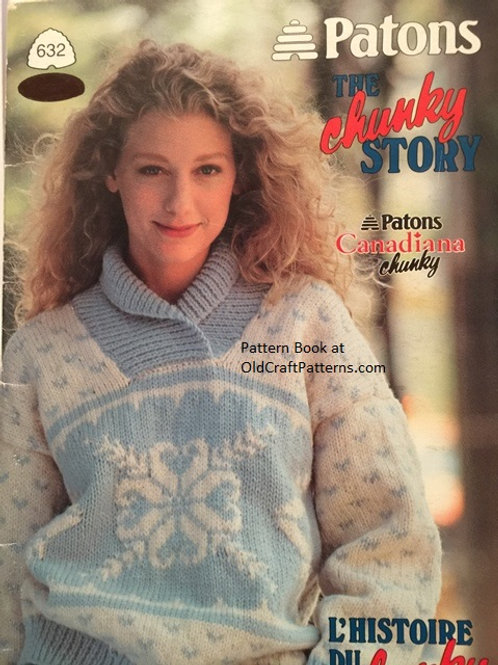 Patons 632 Chunky Story - His and Her Sweater Knitting Patterns Book