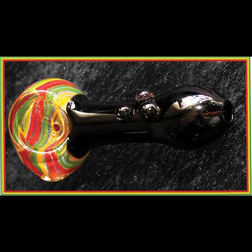 Black Rasta hand pipe. RAS-30