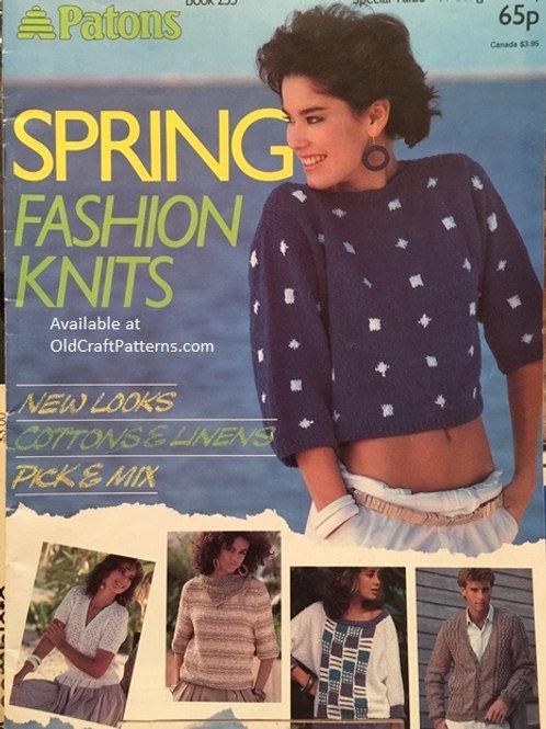 Patons 255. Spring Fashion Knits - Knitting Patterns