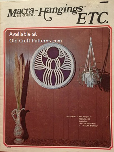 Lee Originals 709. Macra - Hangings Etc. - Macrame Patterns