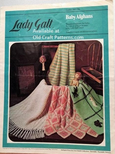 Lady Galt 1063. Baby Afghans - Crochet & Knitting Patterns