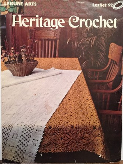 Leisure Arts 92. Heritage Crochet Patterns for Tablecloths and Bedspread