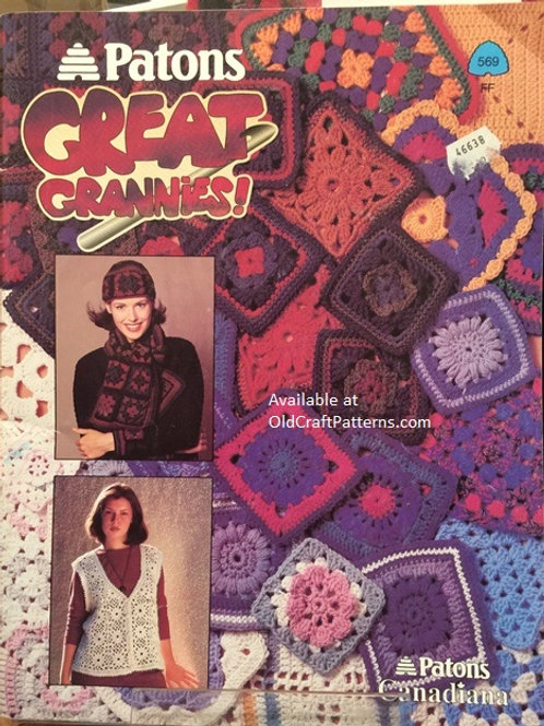 Patons 569. Great Grannies! Crochet Pattern Book