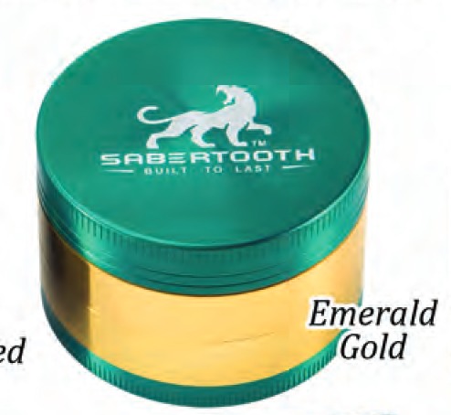 Sabertooth Chromium Grinder EMERALD GOLD