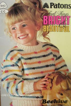 Patons 643 Bright Beautiful Childrens Shetland Chunky Knitting