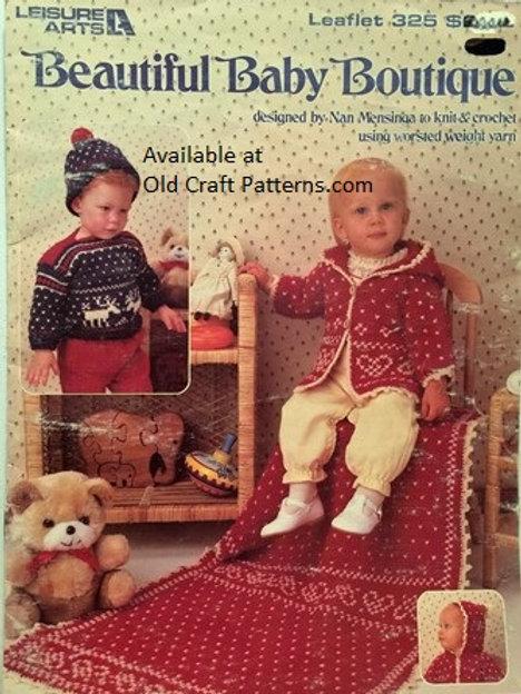 Leisure Arts 325. Beautiful Baby Boutique - Knitting & Crochet Patterns