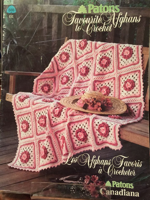 Patons 568. Favourite Afghans to Crochet - Patterns