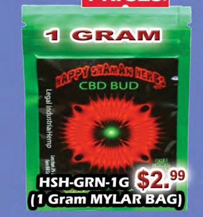GREEN FLASH bud 1 gram MYLAR BAG