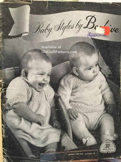 Patons 41. Baby Styles by Beehive - Vintage Knitting & Crochet Patterns