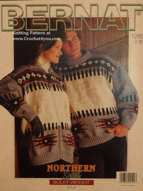 Bernat 1295 Northern Spirit Vol 6 Sweaters - His Hers Knitting Patterns