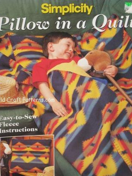 Simplicity 611. Pillow in a Quilt - Sewing Pattern
