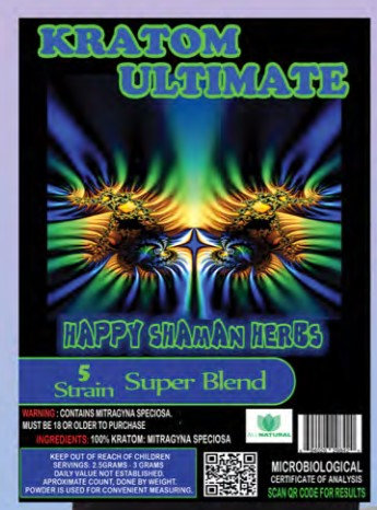 KRATOM ULTIMATE 5 STRAIN SUPER BLEND 500 gram
