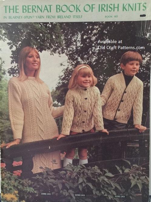 Bernat 145 Book of Irish Knits - Family Fisherman - Knitting Patterns