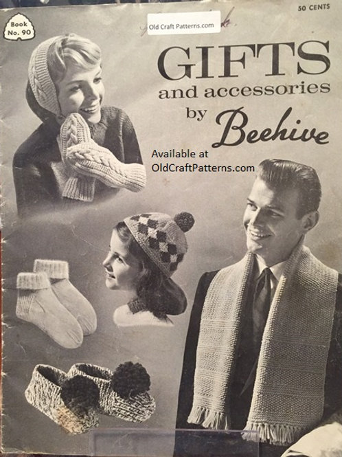 Patons 90. Gifts and Accessories - Golf Club Covers Socks Mitts Knitting Crochet