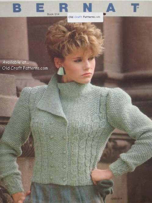 Bernat 514 Knitting Patterns for Experienced Knitters