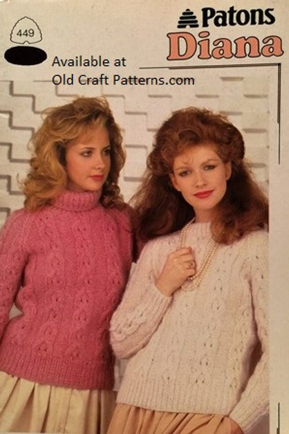 Patons 449. Diana - Chunky Yarn Knitting Patterns