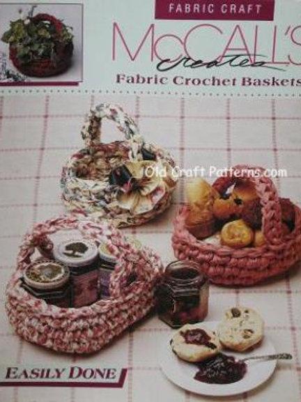 McCalls 14024. Crocheted Baskets - Crochet Patterns