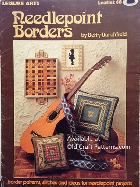 Leisure Arts 68. Needlepoint Borders - Patterns, Stitches and Ideas