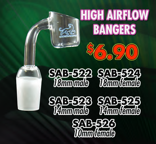 "HIGH AIR FLOW BANGERS 10"" 14"" 18"" male female"