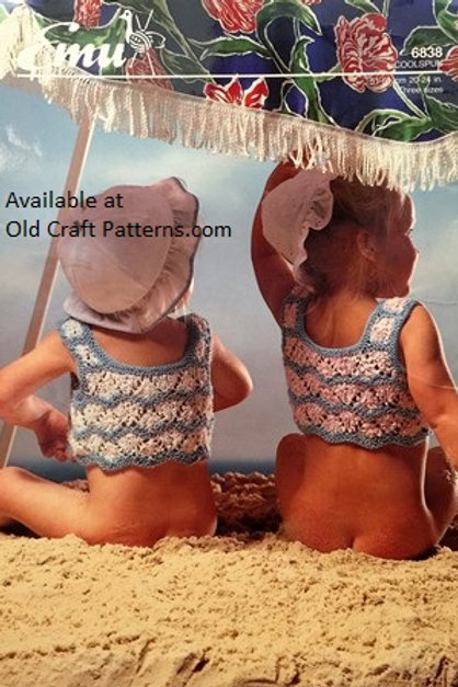 Emu 6838. Baby's Summer Halter Top - Knitting Pattern