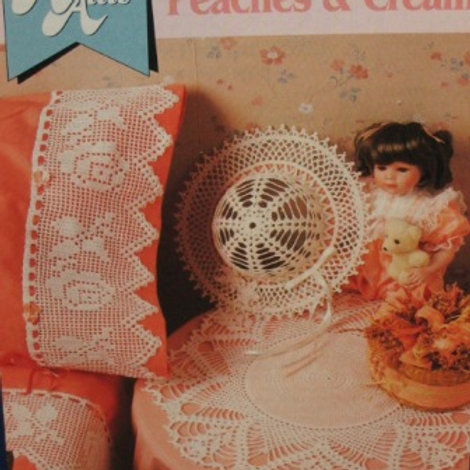Annies Attic 8b036. Peaches and Cream _ Hat, Doily & Lace - Crochet Patterns
