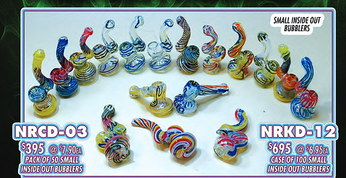 PACK OF 50 small INSIDE OUT BUBBLERS