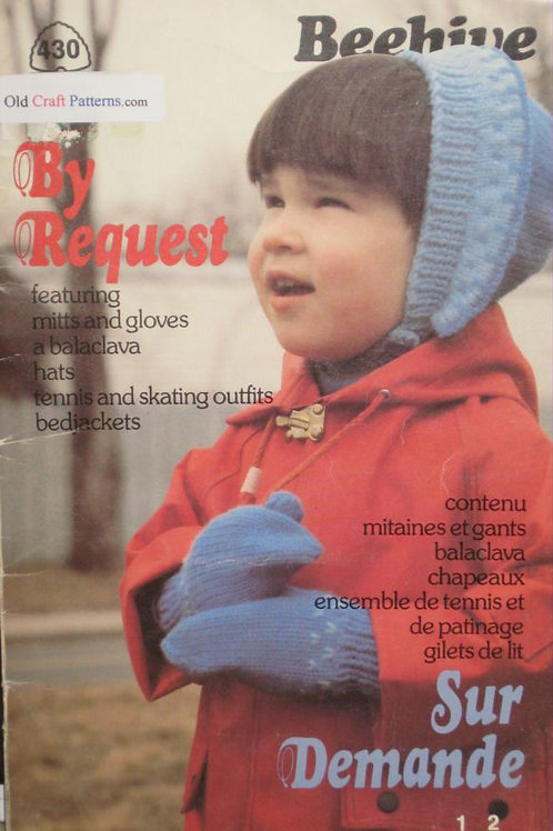 Patons 430. By Request - Favourite Bed Jackets, Hats Skate Set Knitting Patterns