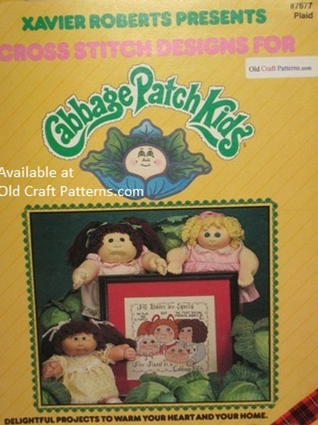 Plaid 7677. Xavier Roberts Presents Cross Stitch Designs for Cabbage Patch Kids