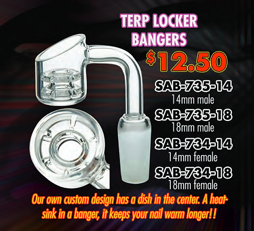 SAB-734 Quartz Terp Locker Banger