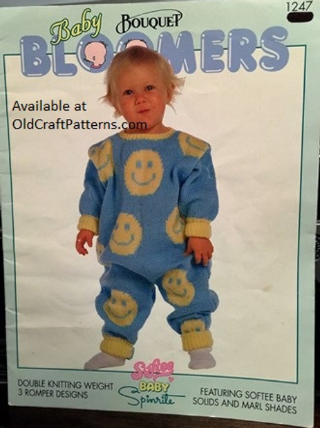 Bouquet 1247. Baby Bloomers Romper Designs - Knitting Patterns
