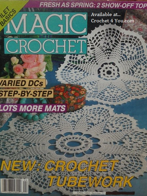 Magic Crochet 77. Crocheted Doilies Tablecloths Mats Patterns